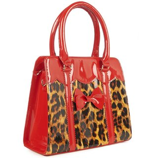 Banned Retro Handbag - Juicy Bits Leopard Red