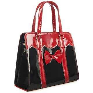 Banned Retro Handbag - Juicy Bits Black-Red