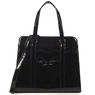 Banned Retro Lackleder Handtasche - Juicy Bits Schwarz