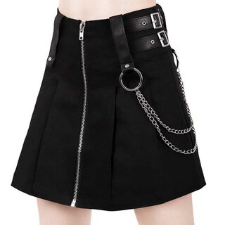 Killstar Pleated Mini Skirt - Nancy Black