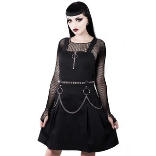 Killstar Pinafore Dress - Regan Black