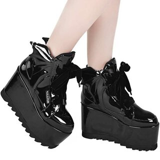 Killstar Lackleder Plateauschuhe - Dead 4Ever Platform...
