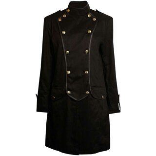 Black Pistol Gothic Coat - Military Gents