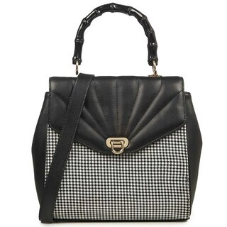 Banned Retro Handbag - Bamboo Lux Houndstooth
