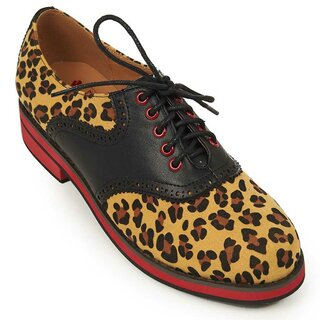 Banned Retro Oxford Saddle Shoes - Old Soul Dancer Leopard