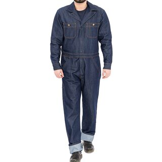 King Kerosin Denim Overalls - Workwear Rinsed