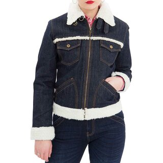 Queen Kerosin Denim Winter Jacket - Deep & Dry