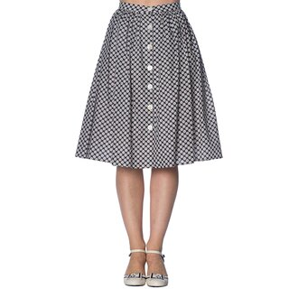 Banned Retro Circle Skirt - Ditsy Daisy
