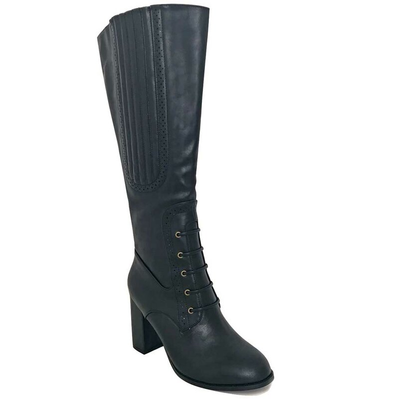 Banned Retro Vintage High Boots - Roscoe Black