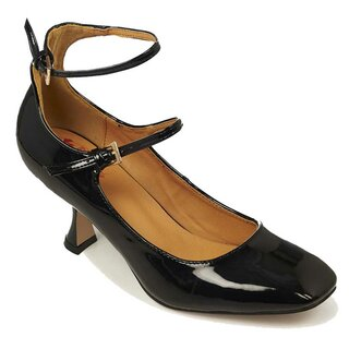 Banned Retro Patent Leather Pumps - Margarita Black