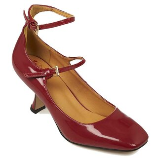 Banned Retro Patent Leather Pumps - Margarita Burgundy