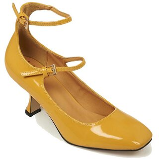 Banned Retro Patent Leather Pumps - Margarita Yellow