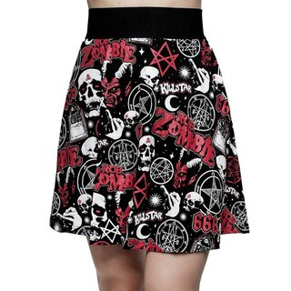 Killstar X Rob Zombie Skater Mini Skirt - Baby Death