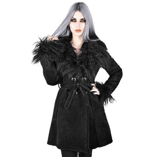 Killstar Faux Fur Shearling Coat - Belladonna