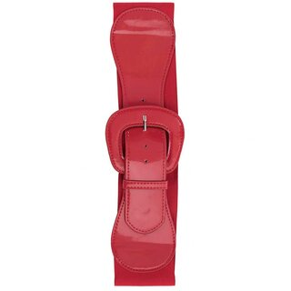 Steady Clothing Stretch Belt - Wide Elastic Red