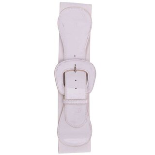 Steady Clothing Stretch Belt - Wide Elastic White