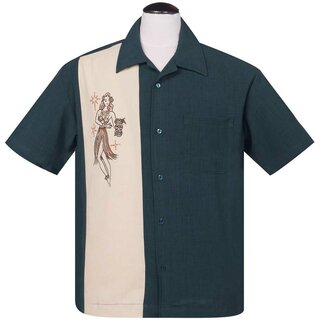 Steady Clothing Vintage Bowling Shirt - Mai Tai Mirage Teal