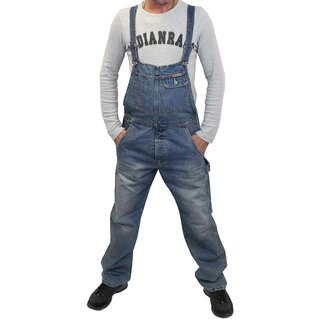 Rockabilly Denim Overalls - Mechanic Light Blue