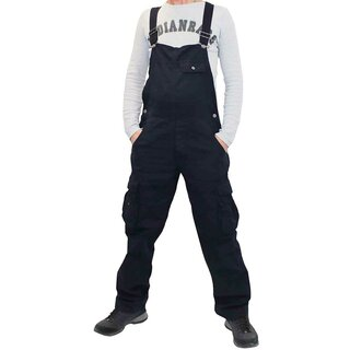 Rockabilly Denim Overalls - Cargo Midnight Blue