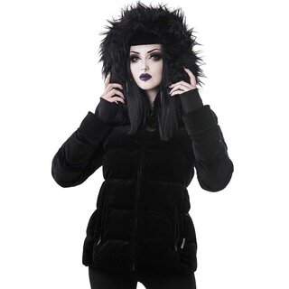 Killstar Velvet Puffer Jacket - Lisa Luna