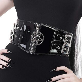 Killstar Patent Leather Waist Belt - Outcast