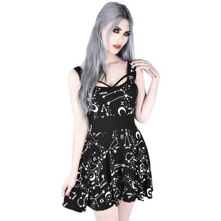 Killstar Star Print Skater Dress - Milky Way