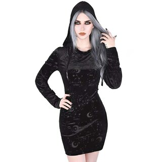 Killstar Samt Kapuzenkleid - Galatea XL