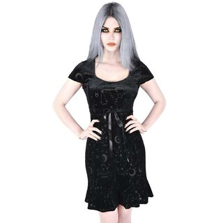 Killstar Velvet Skater Dress - Nova