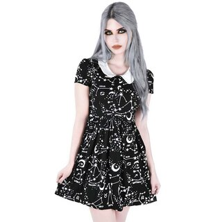 Killstar Star Print Babydoll Dress - Milky Way