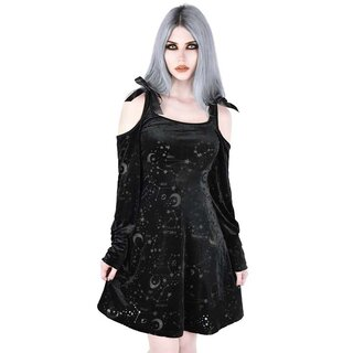 Killstar Velvet Skater Dress - Cosmo