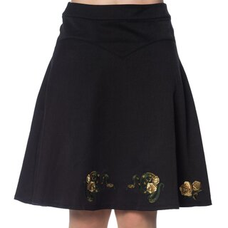 Banned Retro Circle Skirt - Serpent Flare