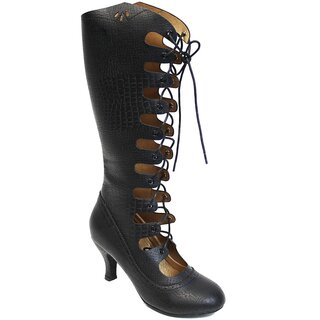 Banned Retro Boots - Snake Lace-Ups