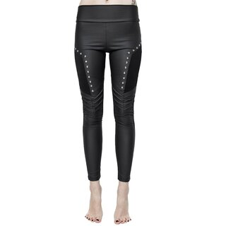Killstar Kunstleder Leggings - Amulet