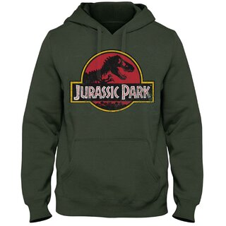 Jurassic Park Hoodie - Classic Logo Olive