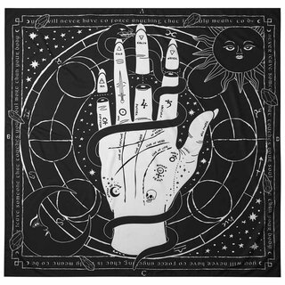 Killstar Posterflagge / Tagesdecke - Palmistry Tapestry