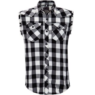 King Kerosin Sleeveless Flannel Shirt - Faster & Louder...