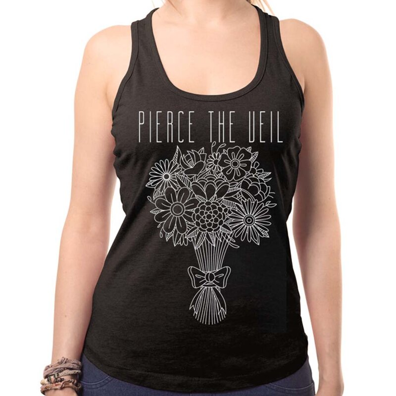 Pierce The Veil Ladies Tank Top - Bouquet