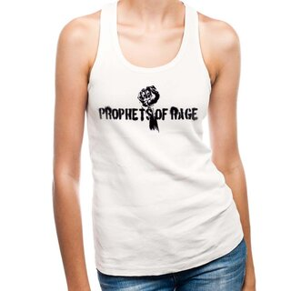 Prophets Of Rage Ladies Tank Top - White Stencil