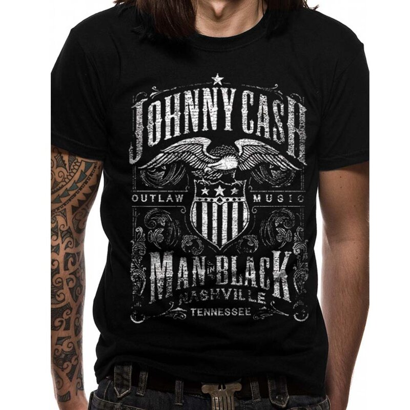 Johnny Cash T-Shirt - Nashville Label S