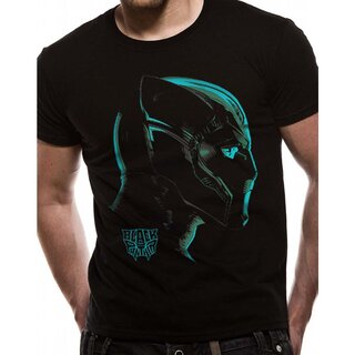 Black Panther T-Shirt - Neon Face