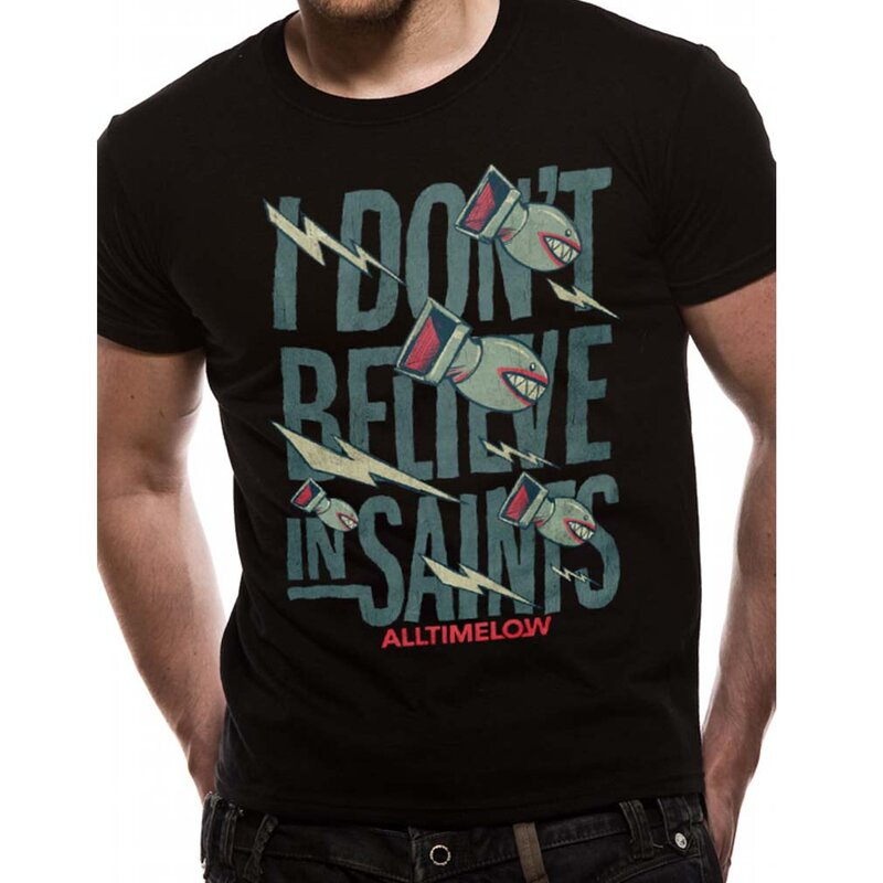 All Time Low T-Shirt - I Dont Believe In Saints M