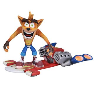Crash Bandicoot Action Figure - Deluxe Crash with Jet Board