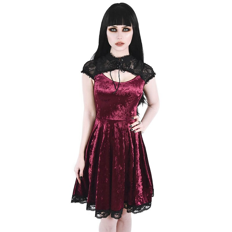 Killstar Samt Minikleid - Astephana