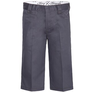 King Kerosin Kurze Hose - Workwear Shorts Grau