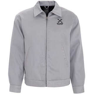 King Kerosin Gabardine Jacket - Speed Freak Grey
