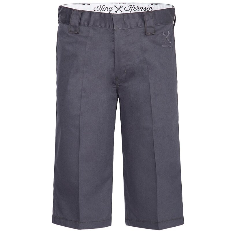 King Kerosin Kurze Hose - Workwear Shorts Grau W: 40