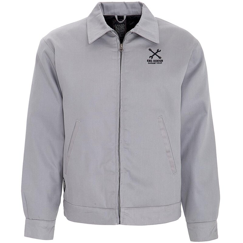 King Kerosin Gabardine Jacke - Speed Freak Grau S