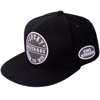 King Kerosin Snapback Cap - Born To Win Schwarz