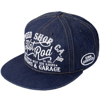 King Kerosin Snapback Cap - Hot Rod Denim