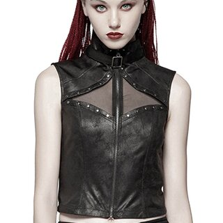 Punk Rave Faux Leather Top - Second Skin